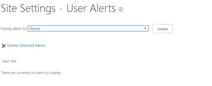 sharepoint user alerts url