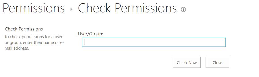 sharepoint check permission url