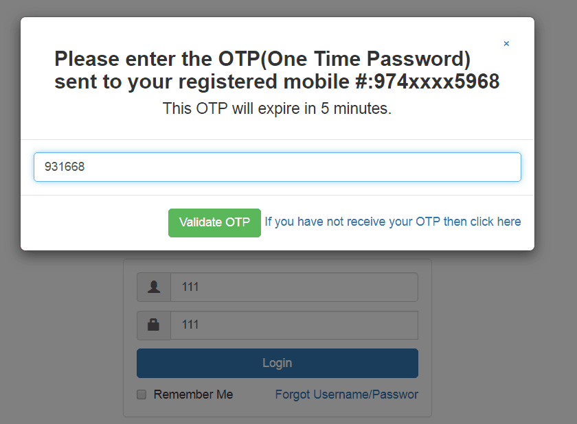 generate one time password otp asp.net using c#.net