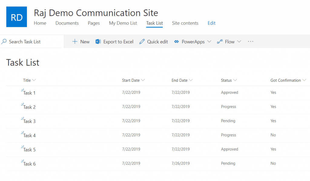 sharepoint modern list column formatting