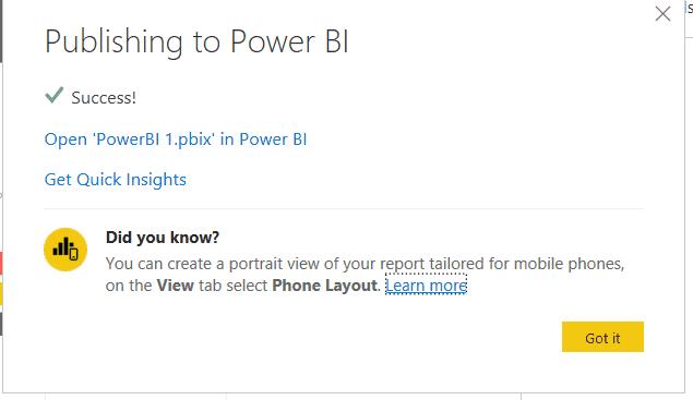 integrate power bi report in sharepoint online