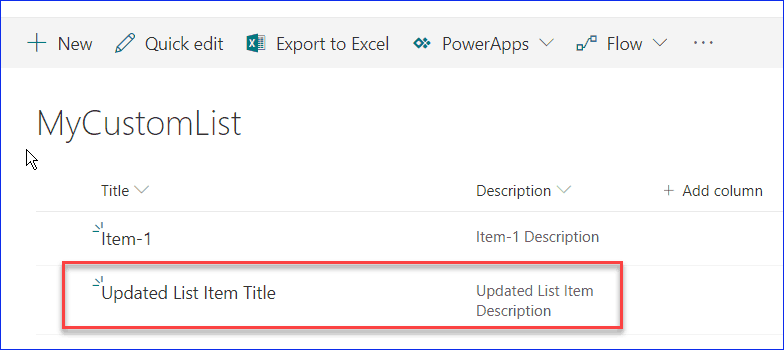 create update and delete list items using javascript object model