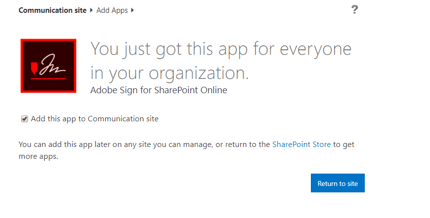 adobe sign sharepoint online