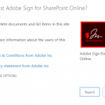 adobe sign sharepoint integration