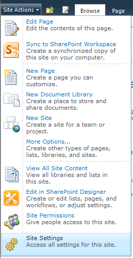 Enable publishing features in SharePoint 2010