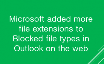 Blocked file types in Outlook on the web
