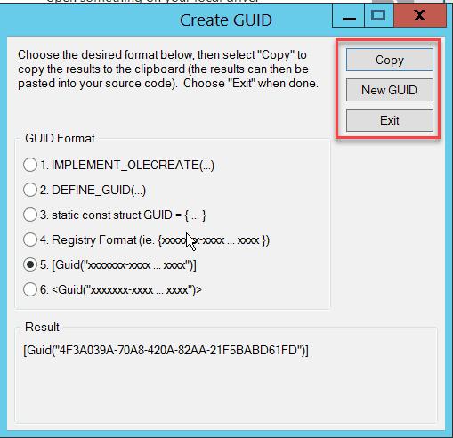 create guid in c#.net