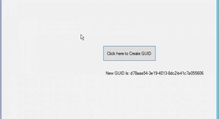 create guid in c#