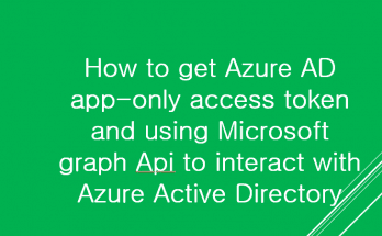 get Azure AD app-only access token using Microsoft graph Api