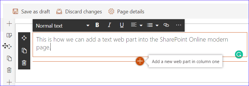 add web part to sharepoint online modern page