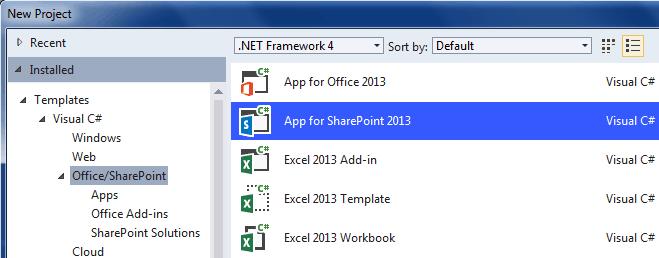 Create a SharePoint list using auto hosted app
