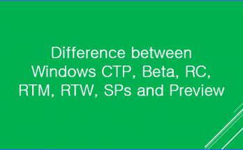 Difference between Windows CTP Beta RC RTM RTW SPs and Preview