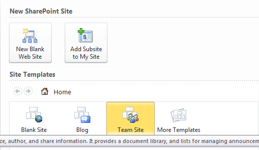 create sharepoint 2010 using sharepoint designer 2010