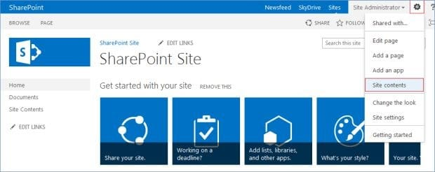 sharepoint create subsite