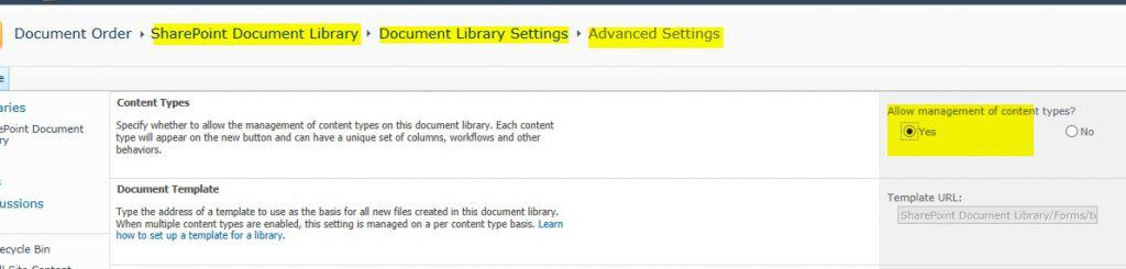 sharepoint document library sort order