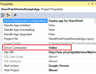 Connections to the SharePoint server are currently disabled because the project is in offline mode