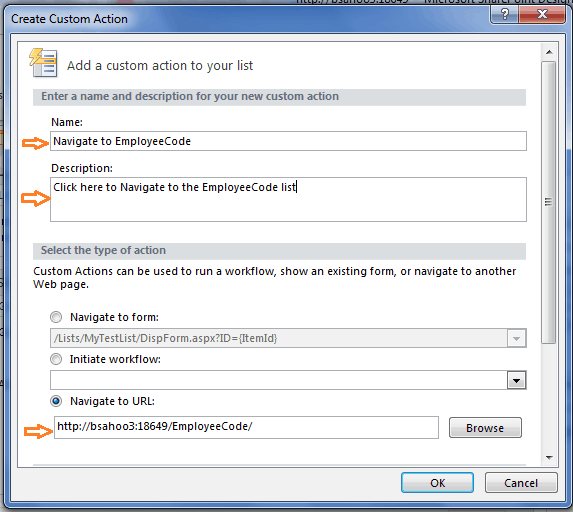 how to add custom actions to list item menu sharepoint 2010 using designer