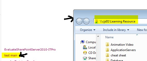 Add a link to an external file share Path to SharePoint document library