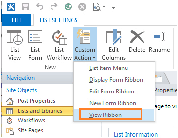 Create a custom ribbon button in list sharepoint designer 2013 1