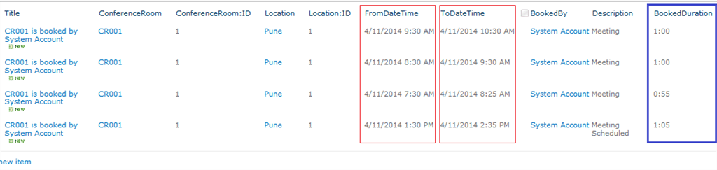 sharepoint calculated column difference between two dates