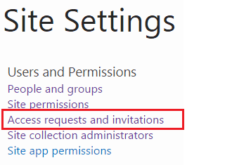request access sharepoint site