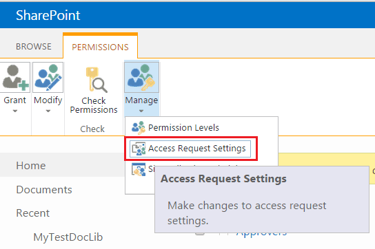 access request sharepoint online