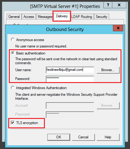 configure outgoing email sharepoint 2016