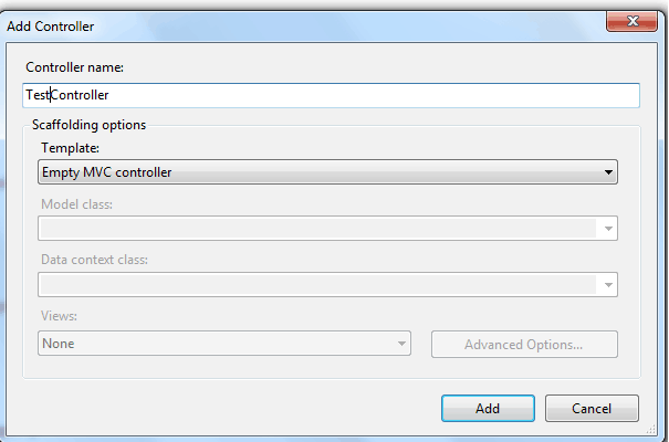 create asp.net MVC4 application
