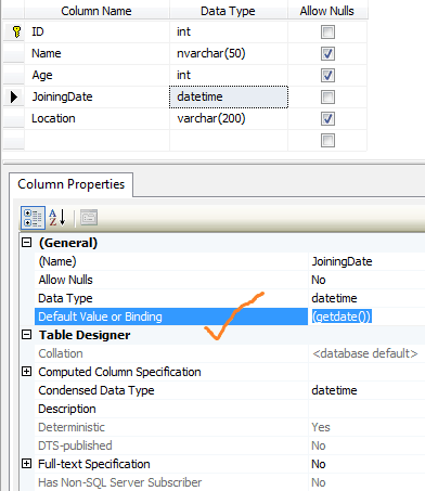 Add default date to column in SQL Server