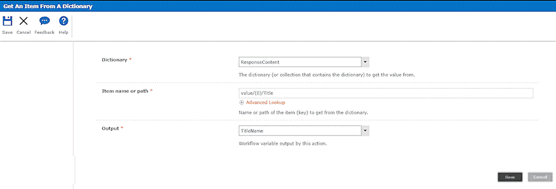 Call HTTP Web Service action in nintex workflow office 365