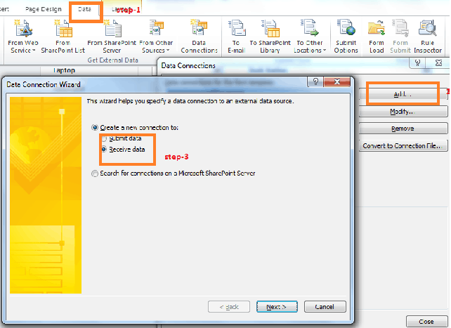 Create XML data connection in InfoPath in SharePoint 2010