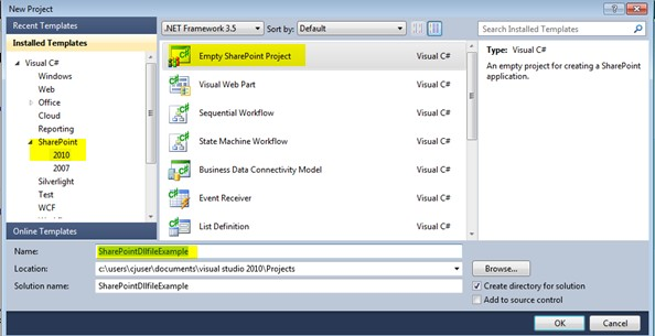Create Create DLL file using Visual Studio 2010 in SharePoint 2010