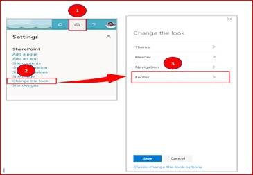 Customize footer SharePoint Online Communication Site