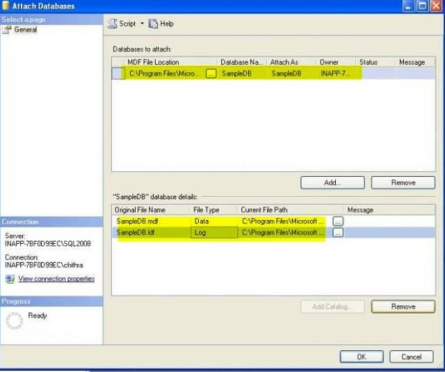 Delete and create a new log file with minimum size in SQL Server