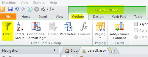 Filtering blog site home page using custom column in post list for SharePoint