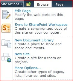 SharePoint 2010 New Page option missing