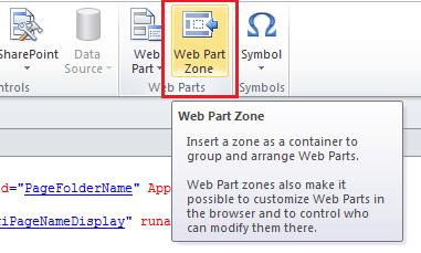 Add web part zone using SharePoint designer 2010