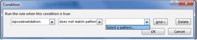 Zip code validation in InfoPath 2010