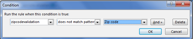 Zip code validation in InfoPath