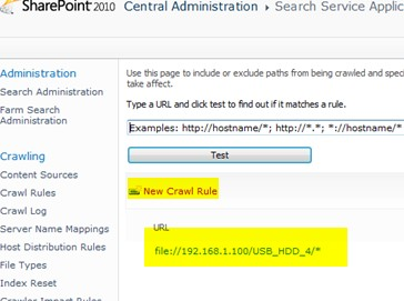 configure SharePoint Server 2016 Search to crawl files in share folder