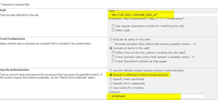 configure SharePoint Server online Search to crawl files in share folder