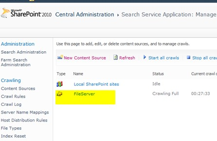 configure SharePoint Server 2010 Search to crawl files in share folder