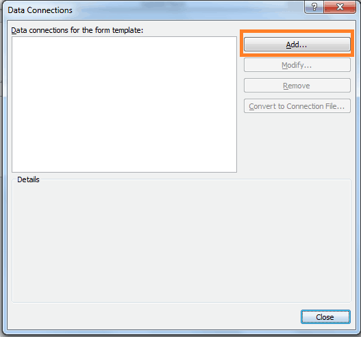 create data connection in infopath 2010