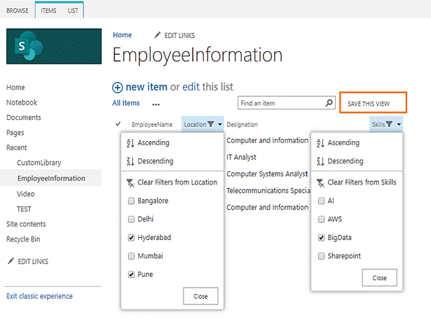 create list view in sharepoint 2013 list