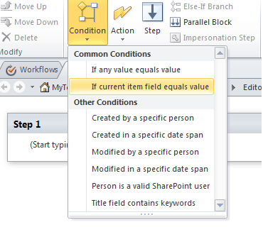 create list workflow in sharepoint designer 2010 step by step