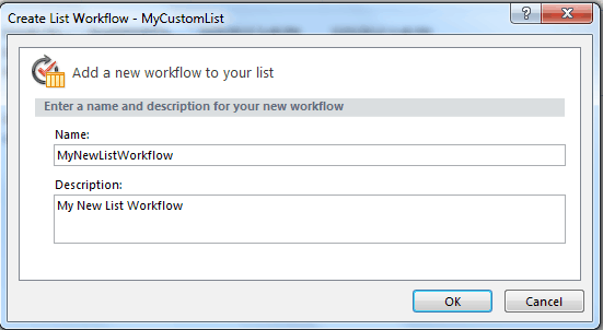 create list workflow in sharepoint designer 2010