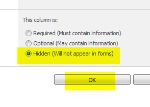 hide column from sharepoint 2010 list display form