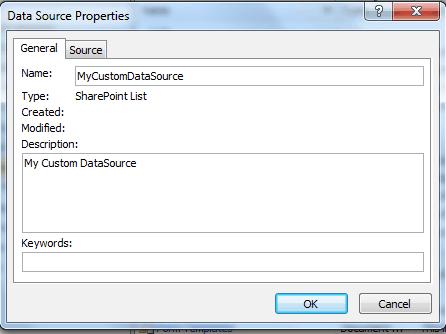 Create a data source in SharePoint designer 2010