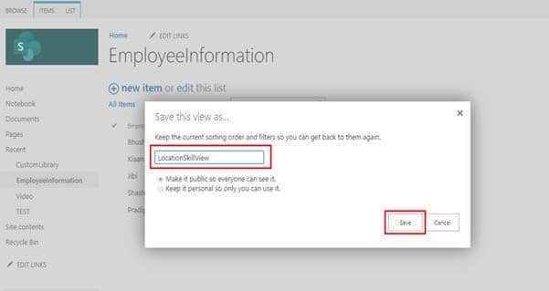 how to create list view in sharepoint 2013 list