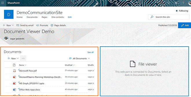 how to use the File viewer web part in sharepoint online